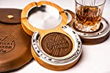 Oak Kentucky Double Cigar Ashtray Coaster Cigar Ashtray Coaster