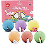 Unicorn Bath Bombs for Kids with Surprises Toys Inside – Organic Lush Bath Bomb Gift Set for Kids with Unicorn Toys – Multicolored Fizz and Bubble Bath Bomb Set
