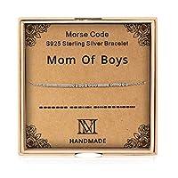 NINAMAID Morse Code S925 スターリングシルバー ブレスレット レディース ビーズジュエリー 母の日 誕生日プレゼント 母 女性 女の子に