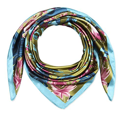 Large Square Satin Silk Like Lightweight Scarfs Hair Sleeping Wraps for Women