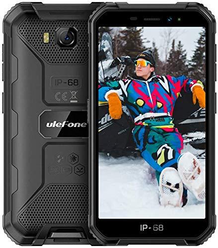 Ulefone Armor X6 2021 - Smartphone libre (IP68/IP69K, Quad-Core, 2+16GB ROM, cámara principal de 5MP frontal, Android 9.0, 5.0 pulgadas, 4000 mAh), color negro