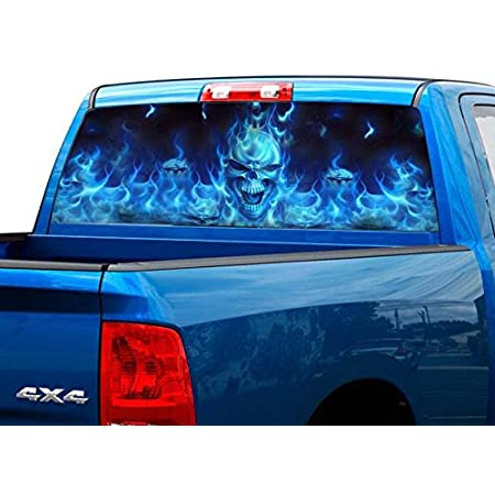 GRIM REAPER SIDES FLAME VuScapes Truck Rear Window Graphic 4 SIZES AVIAL