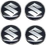 4 Piezas Rueda Centro Cap para Suzuki Swift SX4 Jimny Samurai Vitara 56mm, Emblem Centro Tapacubos Tapas Impermeable AntióXido DecoracióN Accesorios