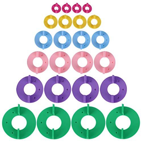 Anladia 12 Stück Pom Pom Maker Pompom Pompon Set 6 Größe Fluff Kugelweber selber Machen Bommel Maker Pompom Macher für Mützen Schals Kleidung Strickmütze Basteln