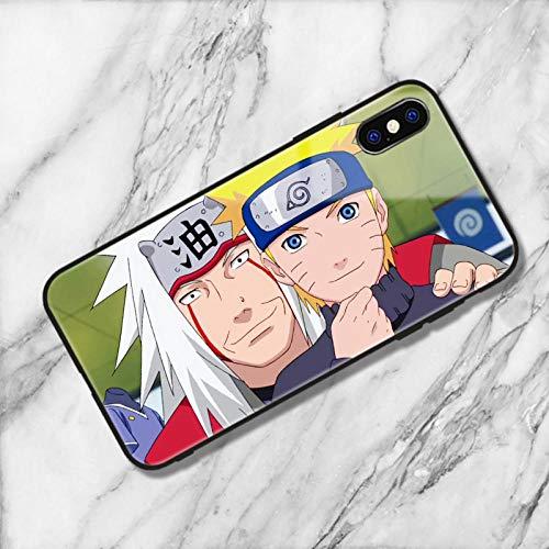 Carcasa de Silicona Suave para iPhone X, XS, XS MAX, XR, 6, 6S, 7 y 8 Plus, diseño de Naruto, Sasuke, Kakashi, Itachi-Photo_Color_11