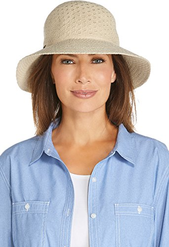 Coolibar UPF 50+ Women's Marina Sun Hat - Sun Protective (One Size- Natural)