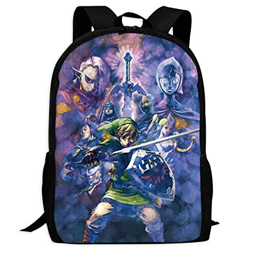 Therwd Childrens Adult Outdoor Sports School Backpack,Cool 3D Print ZE-ldA L/EgE-nD,Book Bags Shoulder Bag