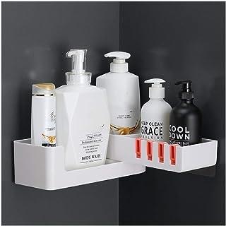 Étagère d'angle Douche Salle de bain en plastique Caddy Rotatif douche étagères de rangement mural panier de bain Organisa...