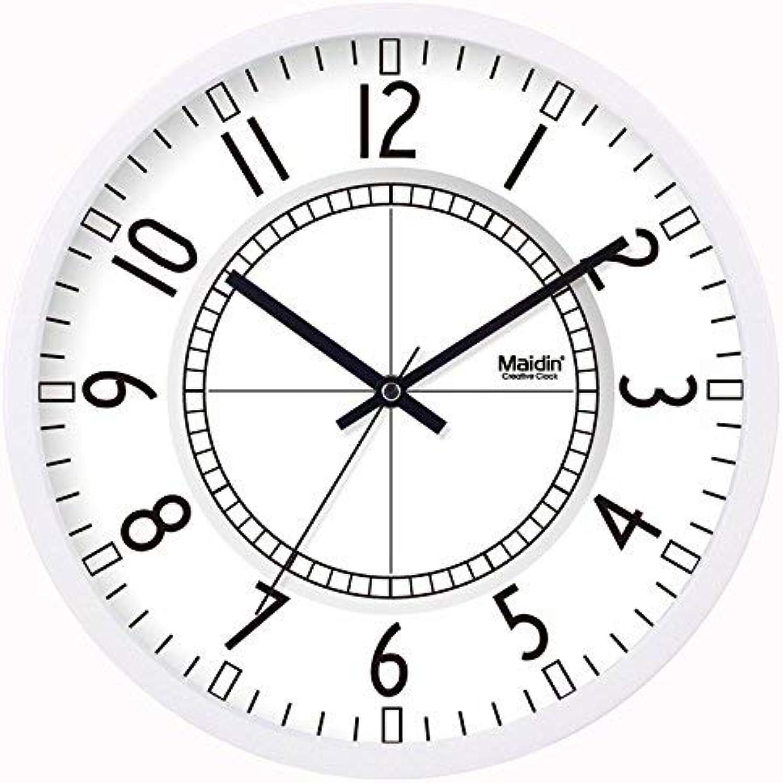 Oudan Reloj de Parojo Sin marcar Número Cuarzo Reloj de Parojo Salón Decorativo Reloj Interior Dormitorio Reloj de Cocina Reloj Mute Art Quartz 10 en metal-negro-254