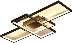 Soffitto del LED 82W Lampada da soffitto dimmerabile con telecomando Anello moderno disegno di rettangolo di luce a soffitto per Camera da letto Soggiorno Cucina Sala da pranzo Ufficio Illuminazione