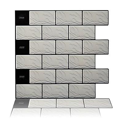 """Cocotik 10.5""""x10"""" Peel and Stick Decorative Backsplash Kitchen Tile - Pack of 10"""