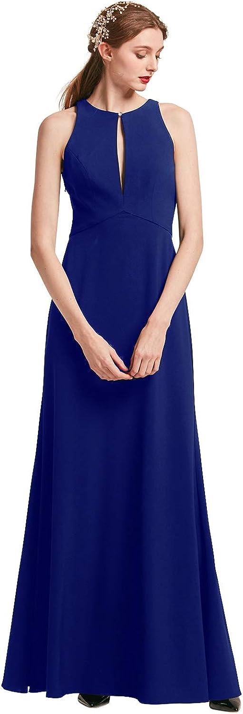 Alicepub Halter Evening Gowns for Women Keyhole Formal Dresses Elegant Special Occasion Dress