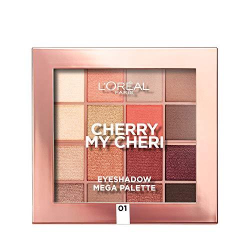L'Oréal Paris Palette Ombretti 16 Colori, Tonalità Neutri e Caldi, Cherry My Cheri, Colori Pigmentati e Risultato Nude