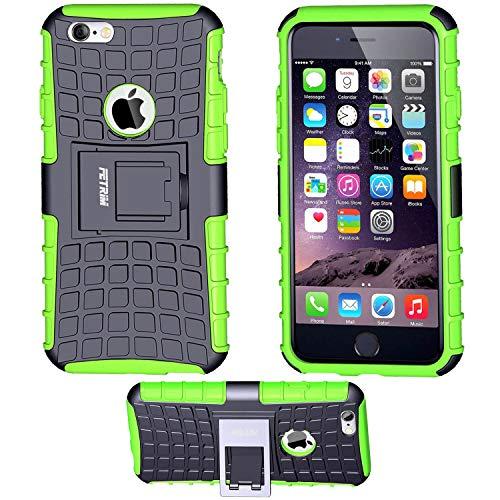 iPhone 6S Coque,iPhone 6 Coque, Fetrim Armor Support Protection Étui,Anti Chocs Bumper Étui Hybride Protection Housse Cover pour Apple iPhone 6 6S (Vert)