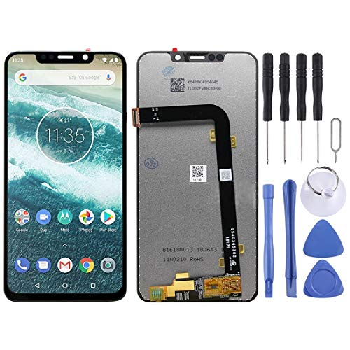 Zhouzl Motorola Spare Schermo LCD e digitalizzatore Assemblaggio Completo for Motorola One Power (P30 Note) (Nero) Motorola Spare (Colore : Black)