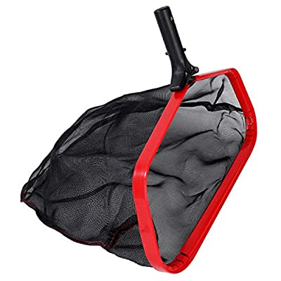 Deep-Bag Pool Skimmer ?Premium Leaf Rake & Heavy Duty Swimming Pool Skimmer Net ,Sturdy Frame, Strong Grip Handle, Suitable For Outdoor & Indoor Swimming Pools ,Hot Tubs and Spas (Deep-Bag Rake)