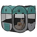 Parc pour animaux de compagnie Portable tissu doux pliable pour animaux de compagnie chien chat chiot parc pour animaux de compagnie chenil Cage pour une utilisation extérieure intérieure(S)