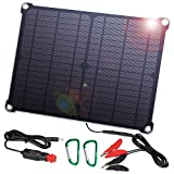 SUAOKI - 60W Cargador Panel Solar (Placa Solar Pegable y Doblado, 18V DC, 5V USB Salida, para...