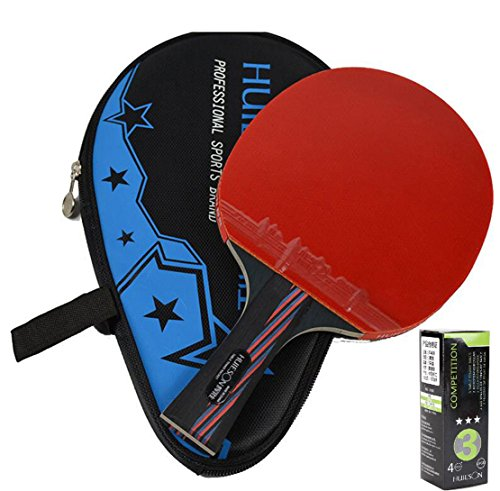 Buy Bargain LANFIRE(huieson) Carbon Fiber Table Tennis Racket Blade Double Face Pimples-in Racket Ru...