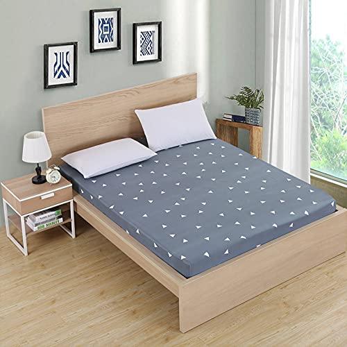NTtie Protector de colchón/Cubre colchón Acolchado, antiácaros, Impresión de poliéster