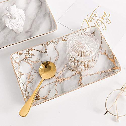 Kiu opbergplaat, Scandinavische tafel, van keramiek, marmer, minimalistisch, voor sieraden en kantoor