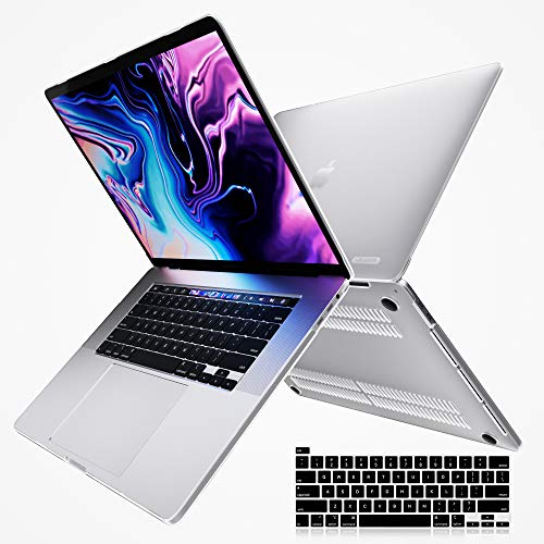 i-Blason Halo V2.0 Case for MacBook Pro 16 inch (2019 Release) A2141, Ultra Slim Translucent Hard Case Cover Including Keyboard Cover for New MacBook Pro 16' with Touch Bar and Touch ID (Frost/Clear)