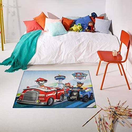 Carpet Studio PAW Patrol Spielteppich, 95x125cm, Kinderteppich für Schlafzimmer, Kinderzimmer & Spielzimmer, Antirutsch, 30°C Waschbar - to The Rescue