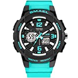 KXAITO Women's Ladies Outdoor Waterproof Sports Watch Women Quartz Watch Fashion Bracelet Movement Analog-Digital Display Girls Wrist Watches (Turquoise)