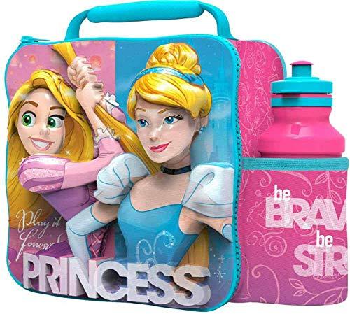 Boyztoys Disney Princess 3D Termica per Il Pranzo con Borraccia Sportiva