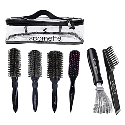 Spornette Smooth And Shine Set And Big Wonder Bundle with Hair Brush Cleaners