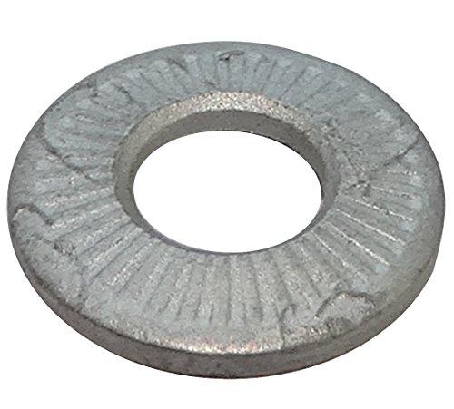 AERZETIX: 100x Arandelas Belleville conica Elastica estriadas M5 Ф12mm Acero a muelles Dientes C17700