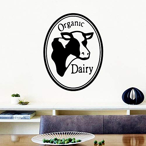 Sanzangtang Amerikaanse bio-melkproducten muurkunst stickers moderne wanddecoratie citaat vinyl sticker kinderkamer natuurlijke decoratie verwijderbare muurschildering