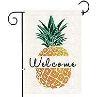 Bonsai Tree Pineapple Welcome Garden Flag