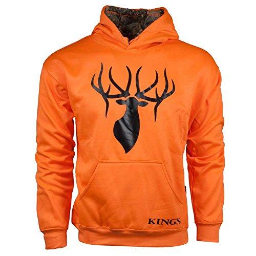 King's Camo Blaze Poly Logo Hoodie-Blaze Orange/ Desert Shadow-2XL