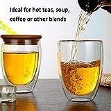 Momorain Doppelte transparente Glas-kreative Kaffeetasse verdickte Isoliermilch-Schalen-Glasschale...