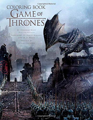 Game Of Thrones Coloring Book: Stress Relieving Designs for Adults and GOT fans [Paperback] Hobbert, Abela
