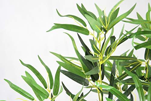 Gran planta de bambú artificial de 1,2 m para interiores y exteriores, árbol en maceta