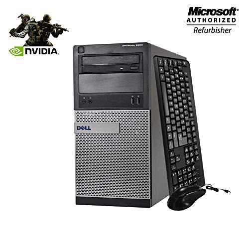 Dell Optiplex 3020 Tower Desktop Gaming Computer - Intel i7 4770 3.4 GHz, 8GB RAM, 512GB SSD, NVIDIA GT 730 4GB DDR5, HDMI, DVI, VGA, Keyboard, Mouse, WiFi, Windows 10 Home 64-bit(Renewed)