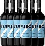 6er Paket - Puro Malbec Cabernet 2017 - Dieter Meier | trockener Rotwein | argentinischer Biowein aus Mendoza | 6 x 0,75 Liter
