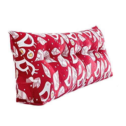 Liutao Taille Bed hoofd kussen zacht blauw rood 50 * 20 * 100 cm zak driehoek bed kussen bank grote rug bed rugleuning afneembare