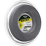 ADV Matrix Rough Tennis String - Softest Control Co-Poly - Textured Slicked Surface for Superior Spin and Feel - 17g (Grey, 660)