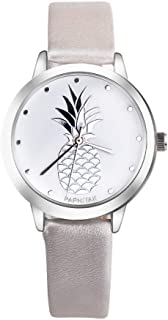 Tropical Pineapple Womens Wristwatch PU Leather Women Modern Watches - Reloj de Mujer Relojes de Mujeres