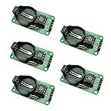 KKHMF 5個 DS1302 RTC リアル タイム クロック モジュール Arduino AVR、ARM、PIC SMD用