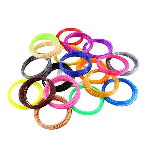VIENDADPOW 20 Colori o 10 Colori/Set 3D Penna ABS ABS/PLA 1.75mm Materiale di Stampa in Gomma di plastica per filamento Stampante 3D (Color : 100m ABS 20 Color)