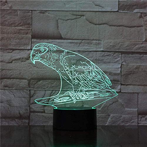 MXLON Lámpara de escritorio Parrot Animales Bird USB lámpara de mesa para niños dormitorio dormitorio hogar fiesta decoración 3D luz nocturna regalo