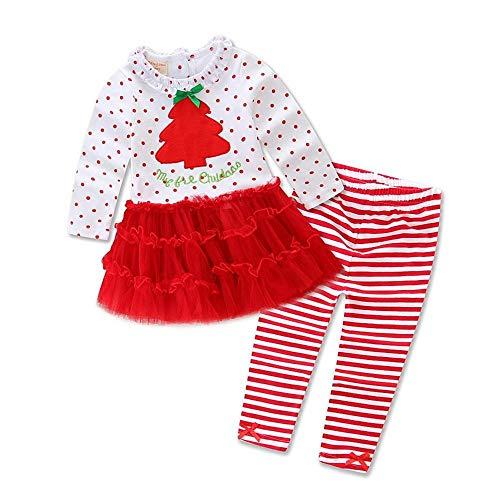 DYMAS Bambino di Natale Costume Bambini Natale Vestito Ragazze Abiti L'Albero di Natale Set di Pezzi