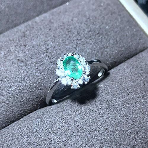 PRAK Damen Ring 925 Sterling Silber Verstellbar,Classic Natürliche Edelstein Ring Schmuck Damenmode Abendkleider Unisex Kreative Sekt Süß Verschleiß