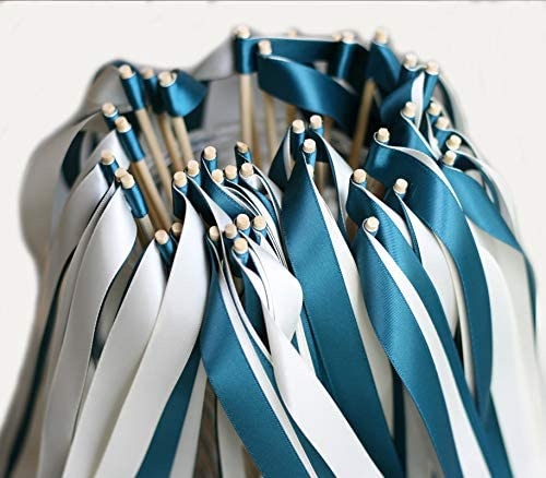 Cheonus 50PCS Wedding Wands with Double Max 48% OFF no Wan Ribbon Bell Bombing free shipping Party