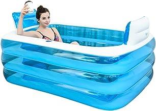 Aufblasbare Pools Aufblasbare Badewanne Spa Badewanne Verdickte Erwachsene Badewanne Strandbadewanne Barrel Doppelbadewann...