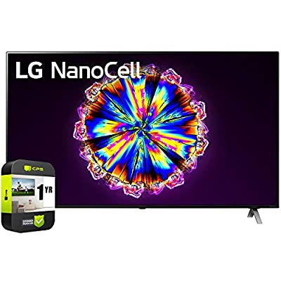 LG 75NANO90UNA 75 inch Nano 9 Series Class 4K Smart UHD NanoCell TV with AI ThinQ 2020 Bundle with 1 Year Extended Protection Plan